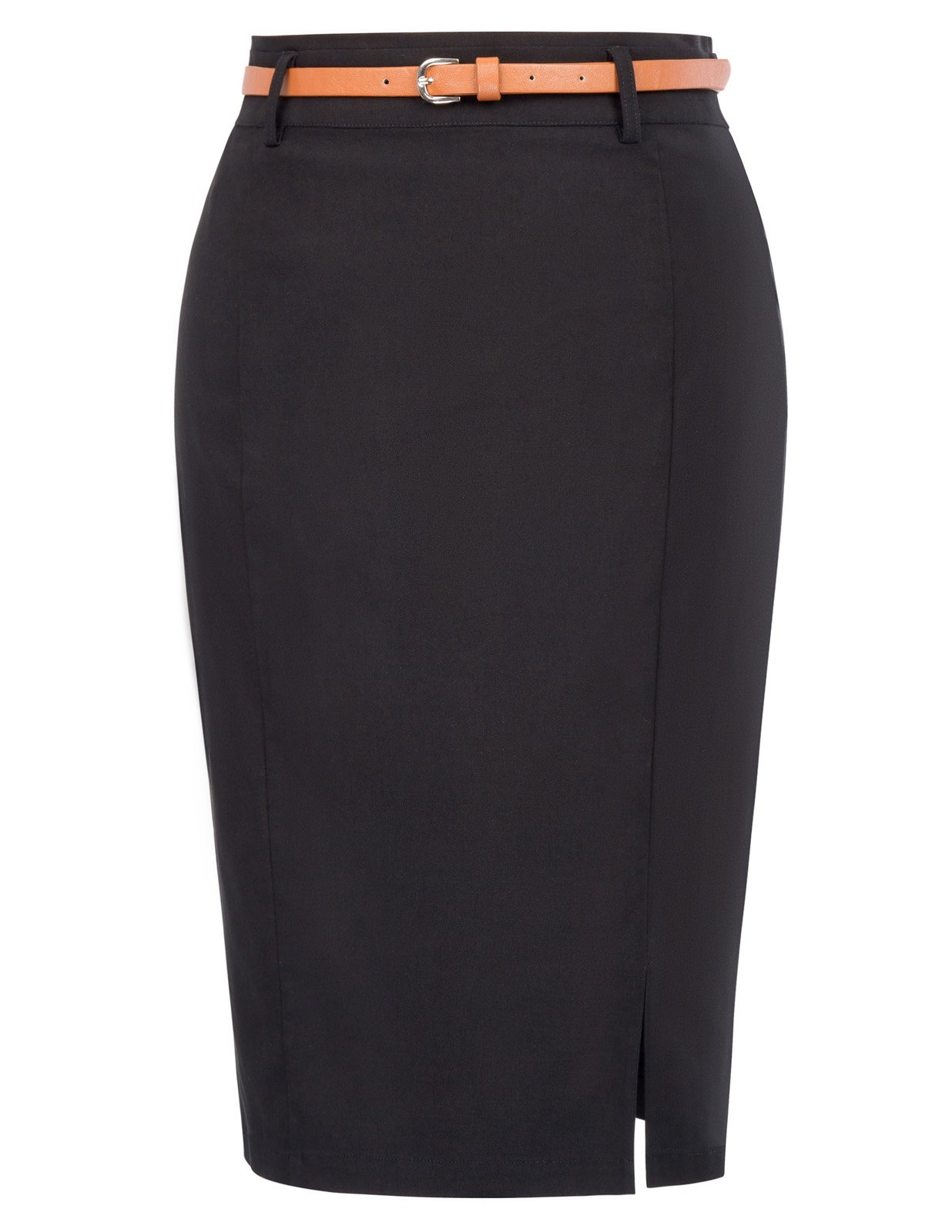 Kate Kasin Women's Stretchy Business Pencil Skirt for Office Wear Size S Black KK856-1