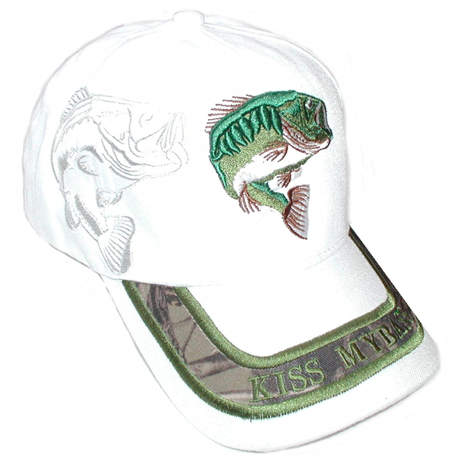 Sea Bass  Embroidery Embroidered Adjustable Hat Baseball Cap