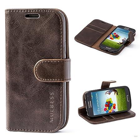 Mulbess (Vintage bookstyle) Premium Handy Schutzhülle Ledertasche im Kartenfach für Samsung Galaxy S4 Mini (4,3 Zoll) Tasche