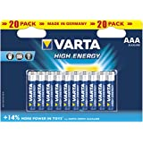Varta High Energy Batterie AAA Mignon Alkaline Batterien LR6 - 20er Pack