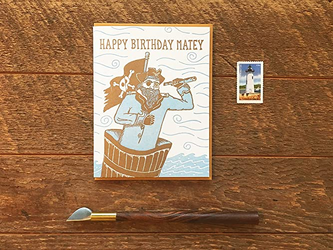 Amazon Happy Birthday Matey Pirate Birthday Card Kids