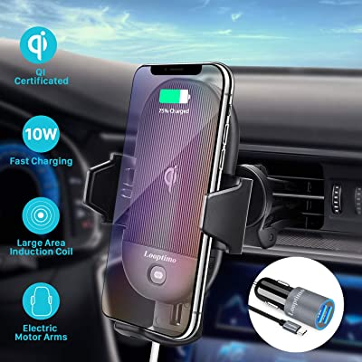 Wireless Car Charger,15W/10W/7.5W Auto-Clamping Qi Fast Charging Car Wireless Mount,Air Vent Car Phone Charger Holder, Compatible with Samsung Note10/9/S10/S10+/S9/S9+, iPhone 11/11 Pro/Xs/XR/X: Home Audio & Theater