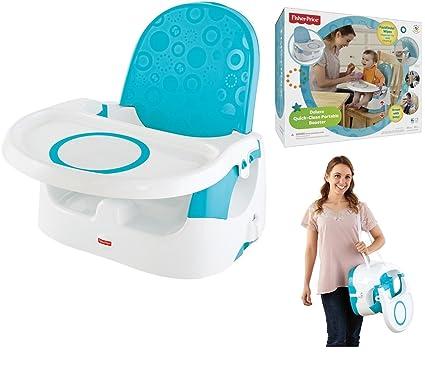 Fisher Price® - Asiento elevador portátil de lujo para niños y bebés, con dispensador