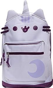 Pusheen The Cat Pusheenicorn Unicorn Backpack Standard Size Backpack for Girls Everyday Use- White