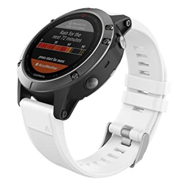 MoKo Garmin Fenix 5 Quick Fit 22mm Watch Band, Soft Silicone Replacement Strap for Garmin