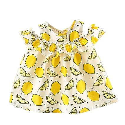 e50639f1f Amazon.com: Newborn Infant Toddler Baby Girls Party Princess Dresses  Cuekondy Summer Sleeveless Fruit Printing Sundress for 6-24 Months (24M, ...