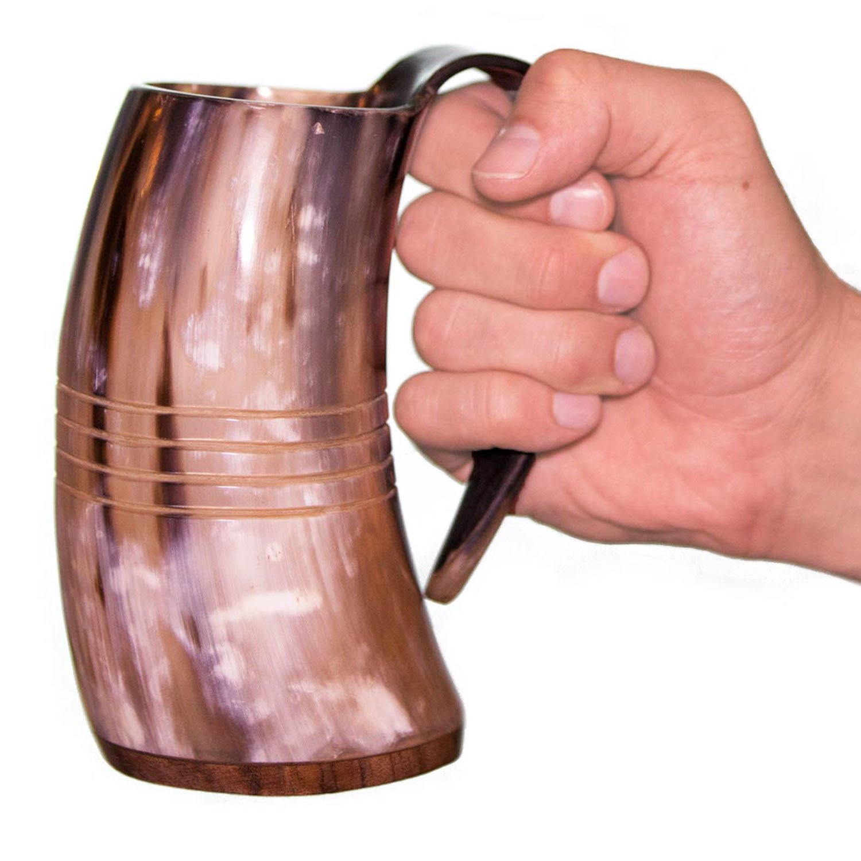 Norse Tradesman Genuine Viking Drinking Horn Tankard (4, The Eternal) by Norse Tradesman (Image #7)