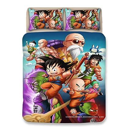 Bulk Dragonball Z Goku Sets Funda Nórdica- Resistente a Las ...