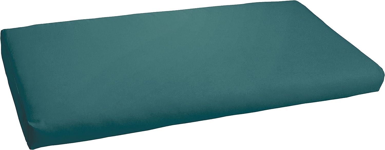 Mozaic Indoor or Outdoor AMCS104294 Bench Cushion, 60 x 19 x 3, Peacock Green