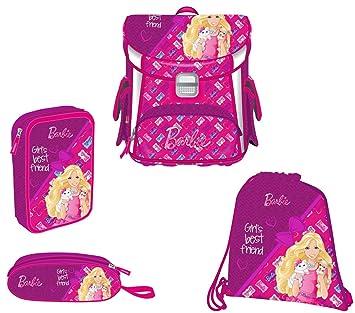 Target Square Set 4in1 Barbie BF Mochila Escolar, 38 cm, 12 Liters, Rosa: Amazon.es: Equipaje