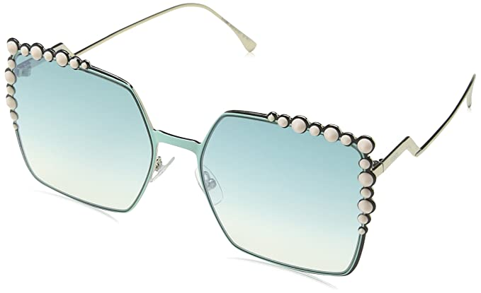 e14de5fe Fendi Women's Ff 0259/S Je Sunglasses, Black (Green), 60: Amazon.co ...