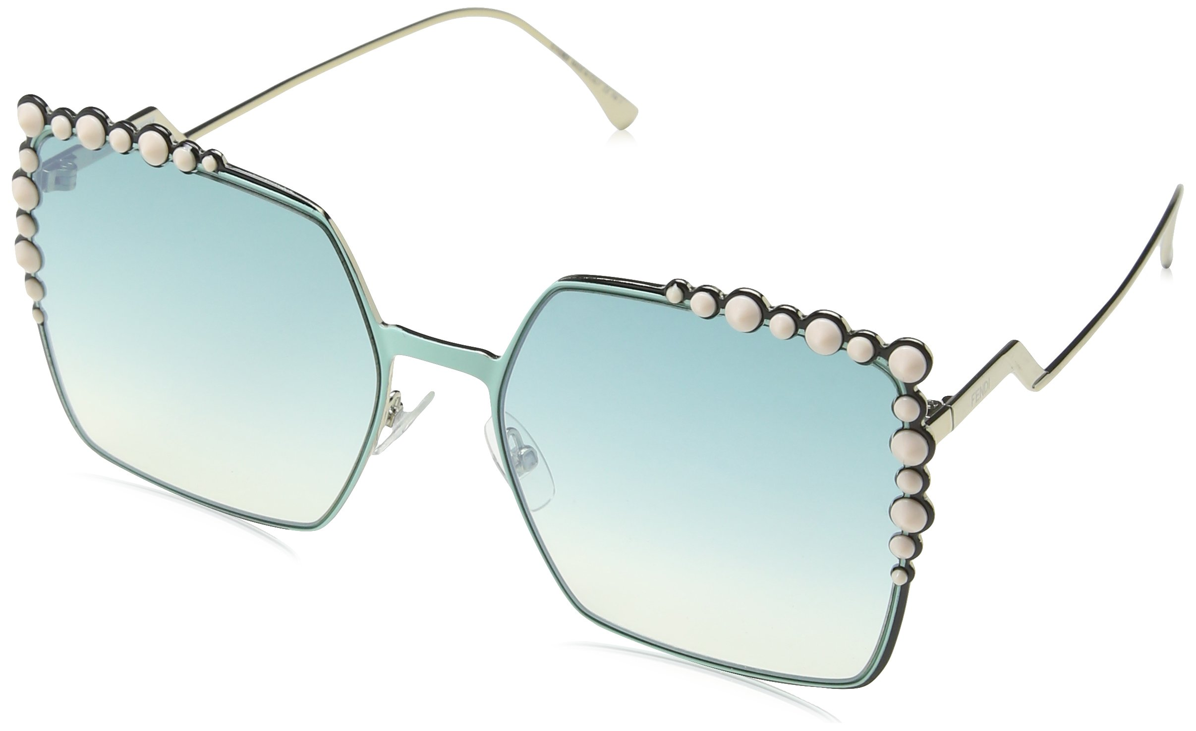 Fendi Sunglasses 0259/S 01ED With Green Yellow Lens