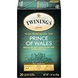 Twinings of London Prince of Wales Tea Bags, 20 Count (Pack of 6)