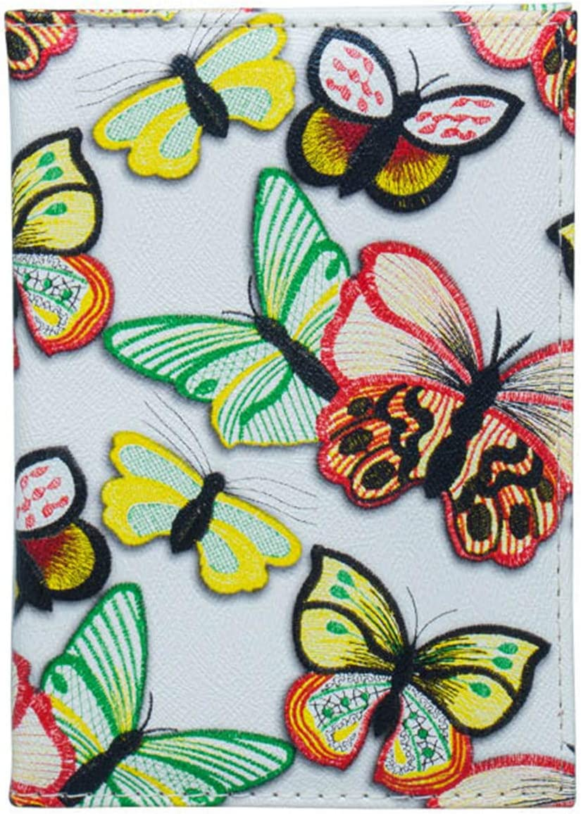 Cute Little Girl With Butterfly Wings Blocking Print Passport Holder Cover Case Travel Luggage Passport Wallet Card Holder Made With Leather For Men Women Kids Family