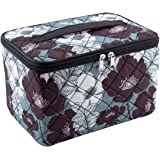 Everything Mary Sewing Kit Organizer Box, Black & Floral - Supplies Storage Basket for Supplies and Accessories…