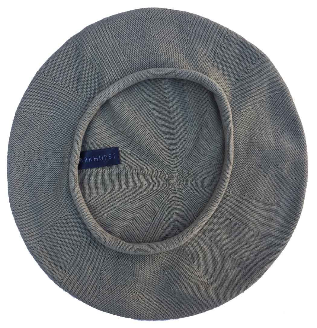 Parkhurst of Canada 11-1/2 Inch Cotton Knit Beret (Sage)