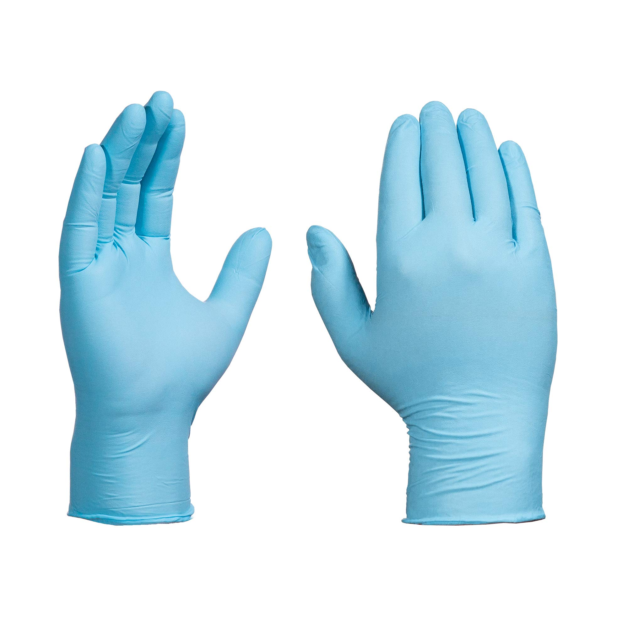 AMMEX Nitrile Disposable Gloves - Powdered, Industrial, 5 mil, XLarge, Blue (Case of 1000)