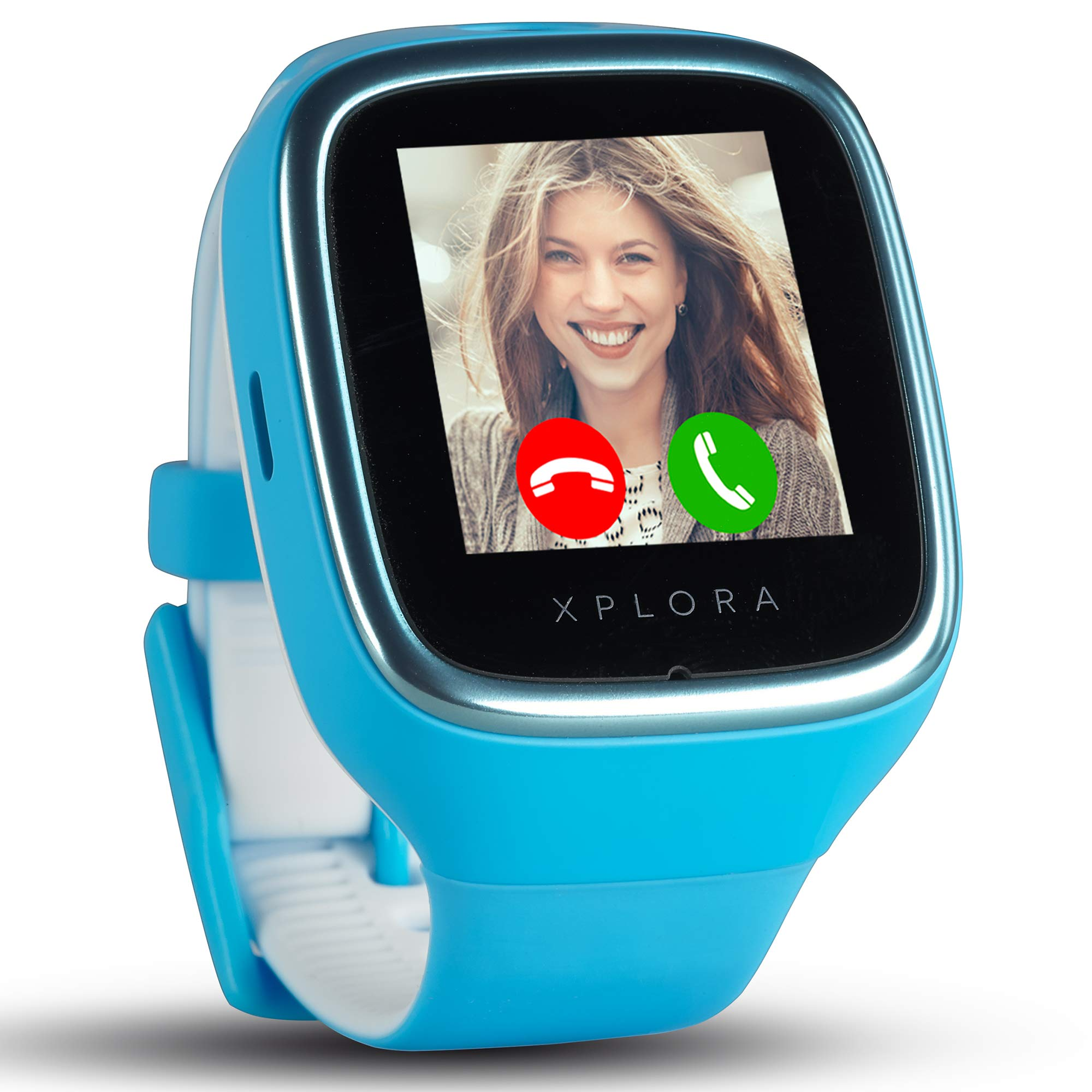 XPLORA 3S - Waterproof Watch Phone for children (SIM Free) - Calls, Messages, Kids School Mode, SOS function, GPS Location and Camera - Includes 2 Year Warranty (BLUE)