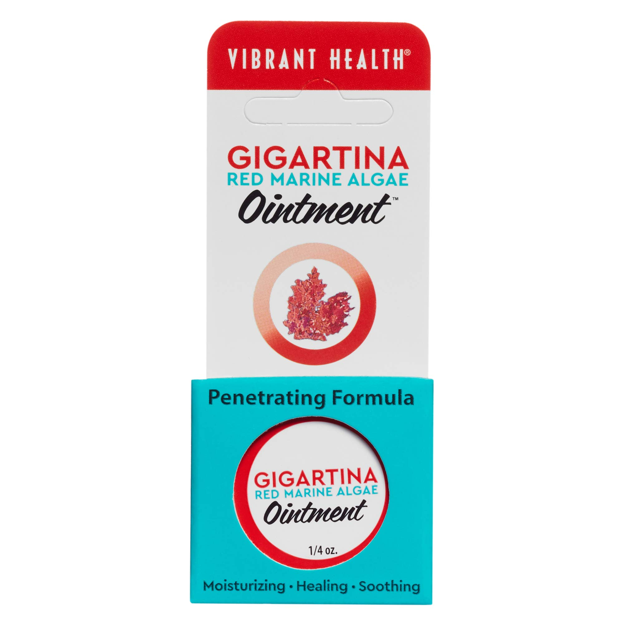 Vibrant Health - Gigartina Red Marine Algae Ointment, Natural Support for Immune Function and Healing with RMA, Shea Butter, and Vitamin E, 1/4 (FFP)