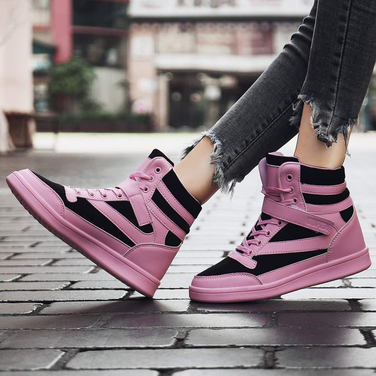 c33f5d17b UBFEN Deportivos de Cuña Mujer Zapatillas Botines Botas Deporte Zapatos  Alta Sneakers Wedges Elevador Interior Talón Ampliar imagen