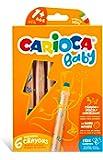 Carioca 3 In 1 Jumbo Bebek Ahşap Gövdeli Boya Kalemi 6'Lı,Kalemtraş Hediyeli