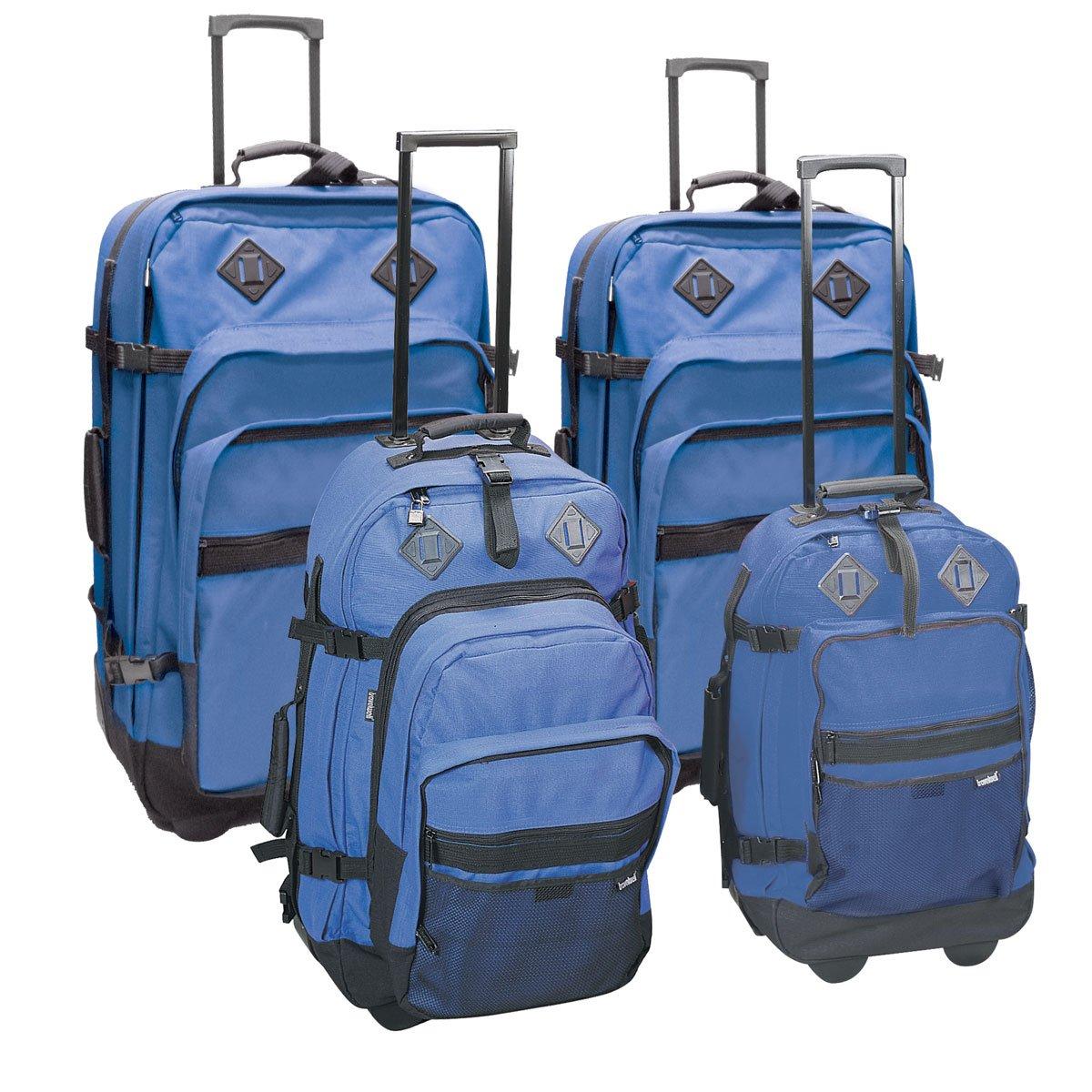 Outdoor Gear Upright 4 Piece Luggage Set Color Blue