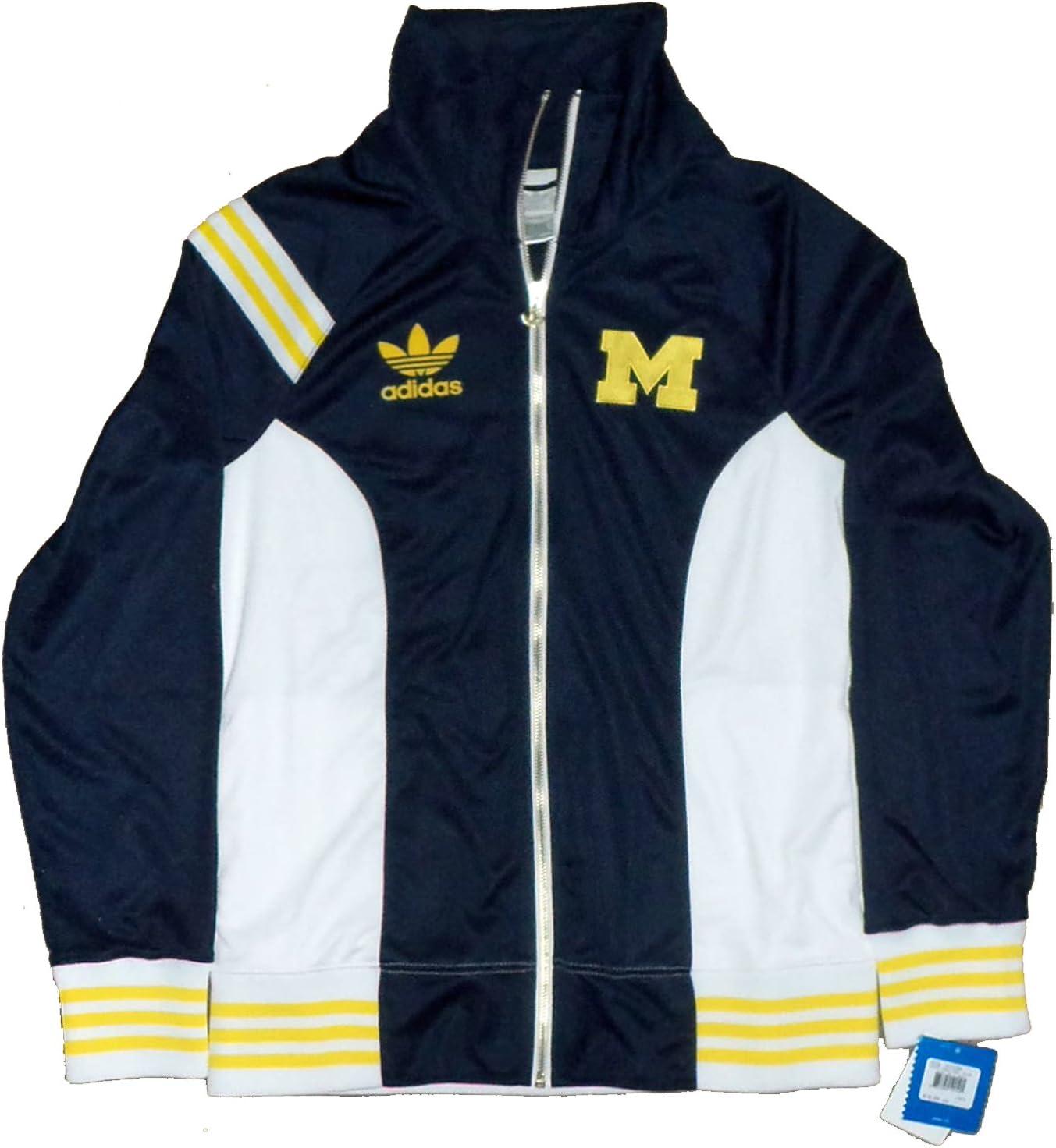 adidas Universidad de Michigan Wolverine Licencia Oficial de la Mujer Cuello Chaqueta para Hombre, Blue, White, Yellow: Amazon.es: Deportes y aire libre
