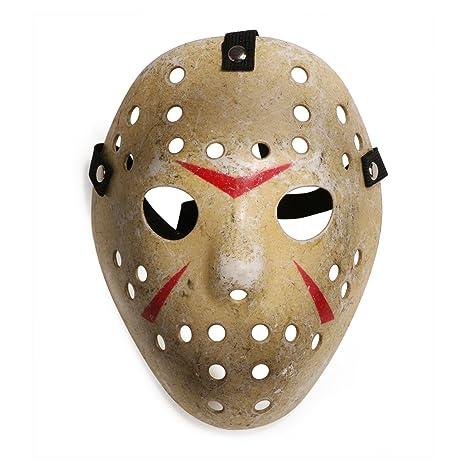 Máscara para disfraz de Halloween, diseño de hockey (niño, MC475 máscara de Jason
