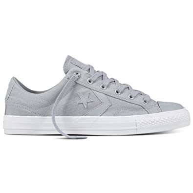 e14b02e63cb7 Converse Womens Star Player Ox Wolf Grey White Canvas Trainers 5 UK   Amazon.co.uk  Shoes   Bags