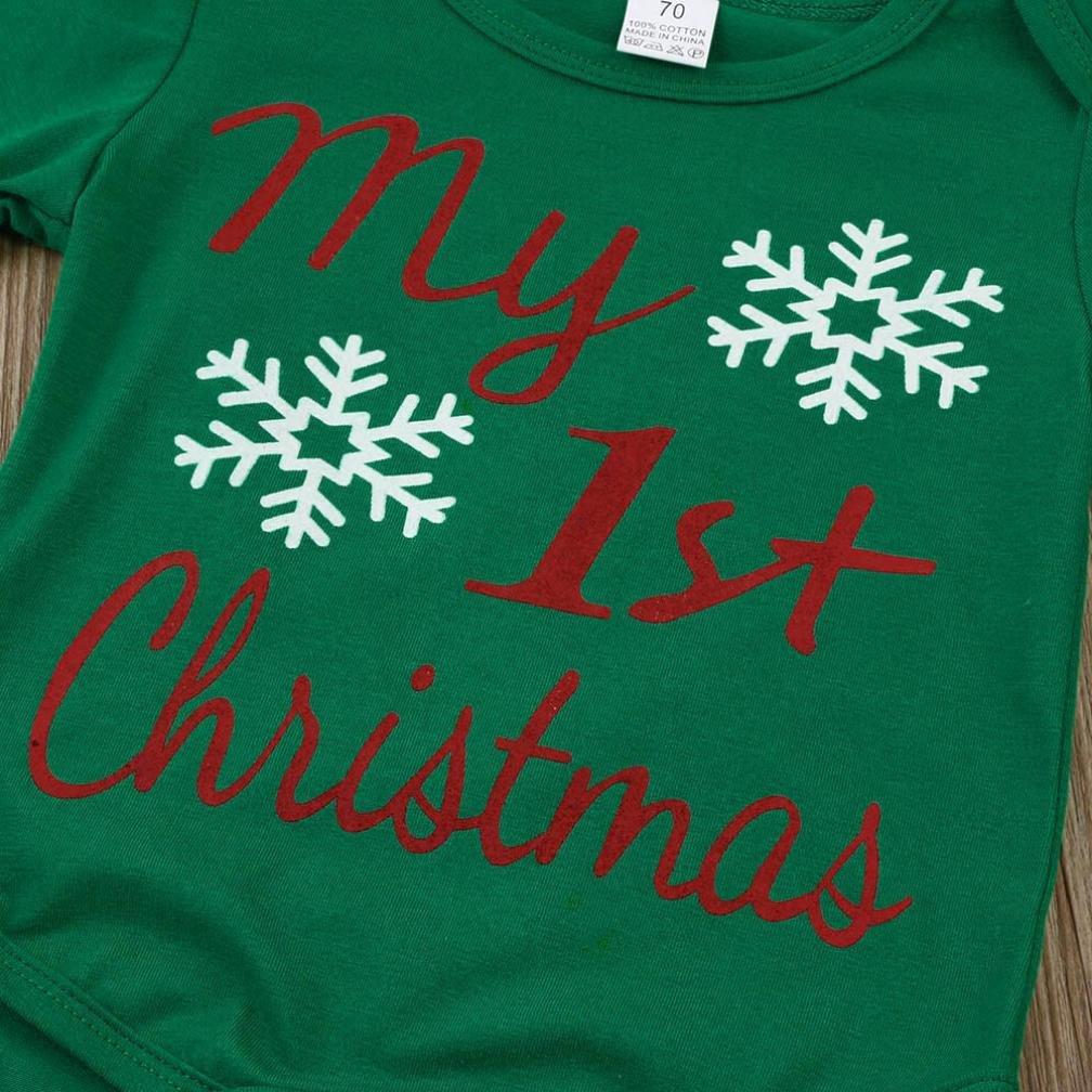My 1st Christmas Baby Girls Ragazzi Natale Abiti Amlaiworld per 0-18 Mesi