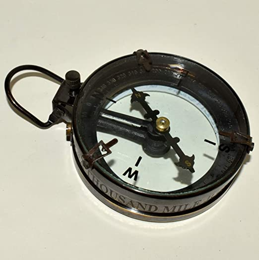 NAUTICAL MAP READER COMPASS COLLECTIBLE MARINE MARITIME BRASS COLLECTIBLE GIFT