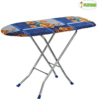 "Flipzon Wooden Self Standing 18"" Unique Folding Ironing Board with Iron Stand - (Color May Vary, Multi-Color) - (Make in India)"