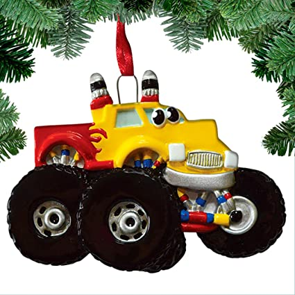 Christmas Jam 2019.Amazon Com Personalized Monster Truck Toy Christmas Tree