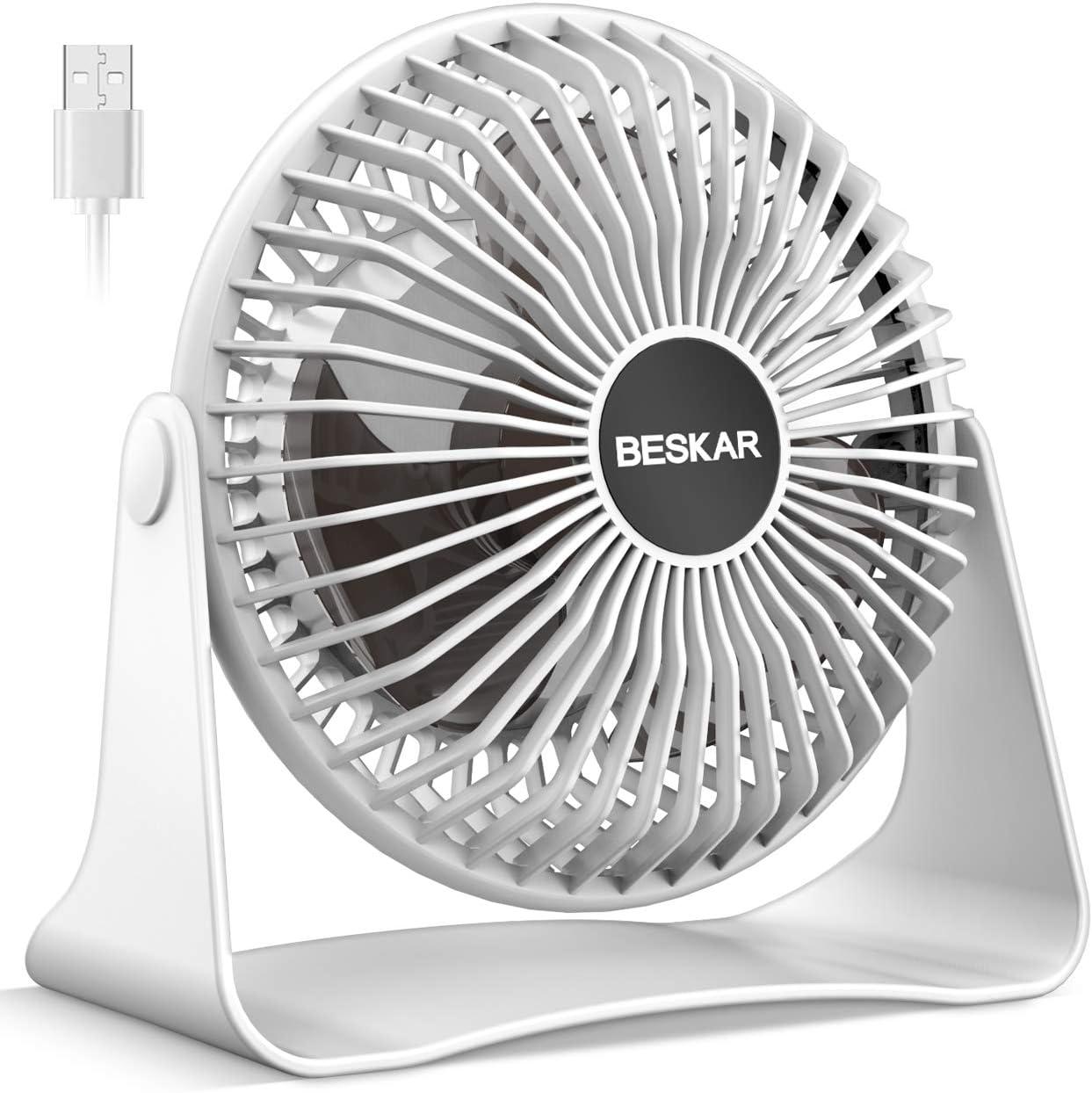 USB Desk Fan 6 Inch Mini Desk Fan with USB Cable,Portable Personal Fan Colourful