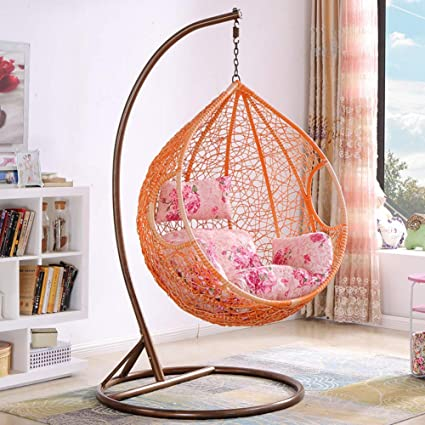 Amazon Com Wicker Chair Swing Rattan Hanging Basket Chair Nest