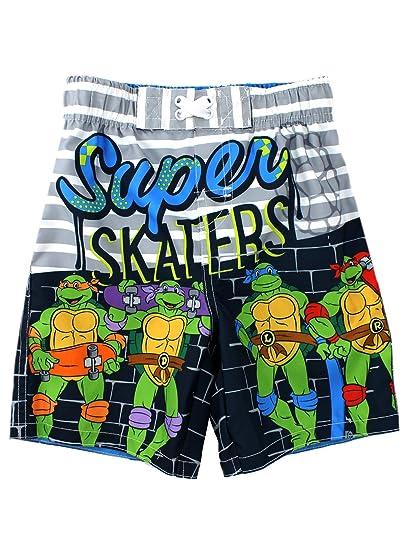 12650ffdcbd83 Amazon.com: TMNT Ninja Turtles Boys Swimwear (2T, Grey Swim Trunks ...