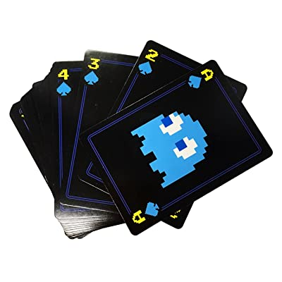 Pac-Man Playing Cards Set | Logos & Emblem Cards | Includes Embossed Premium Metal Storage Tin | Poker Card Set Plastic Coated: Toys & Games