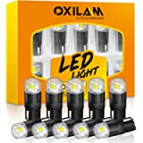 OXILAM 194 LED Bulbs 6000K White 168 2825 W5W T10 Interior Car Light Bulbs Replacement for Dome Map Door Courtesy Step…