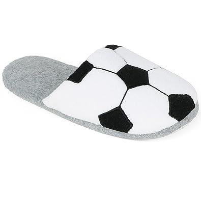 47c00d79a17 Zac evan little boys sports fleece scuff slipper shoe jpg 395x395 Soccer  slippers