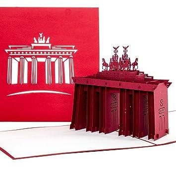 Gutscheinkarte.Pop Up Karte Berlin Brandenburger Tor Gutschein Reisegutschein 3d Karte Einladung Gutscheinkarte Einladungskarte Grusskarte Berlin