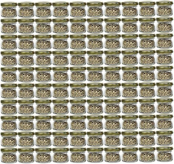 200 Mini Sturzgläser 30 ml Marmeladengläser Einmachgläser Einweckgläser Silber