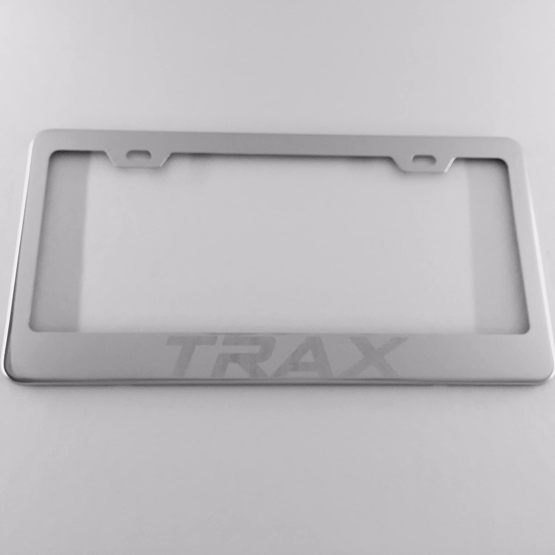 Traxレーザー刻印ステンレススチールクロームポリッシュライセンスプレートフレーム   B00OU8VA5C