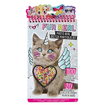 Fashion Angels Fur Real Shaker Compact Sketch Portfolio 12541 Pet Coloring Book, Photo Real Sketch Book: Toys & Games