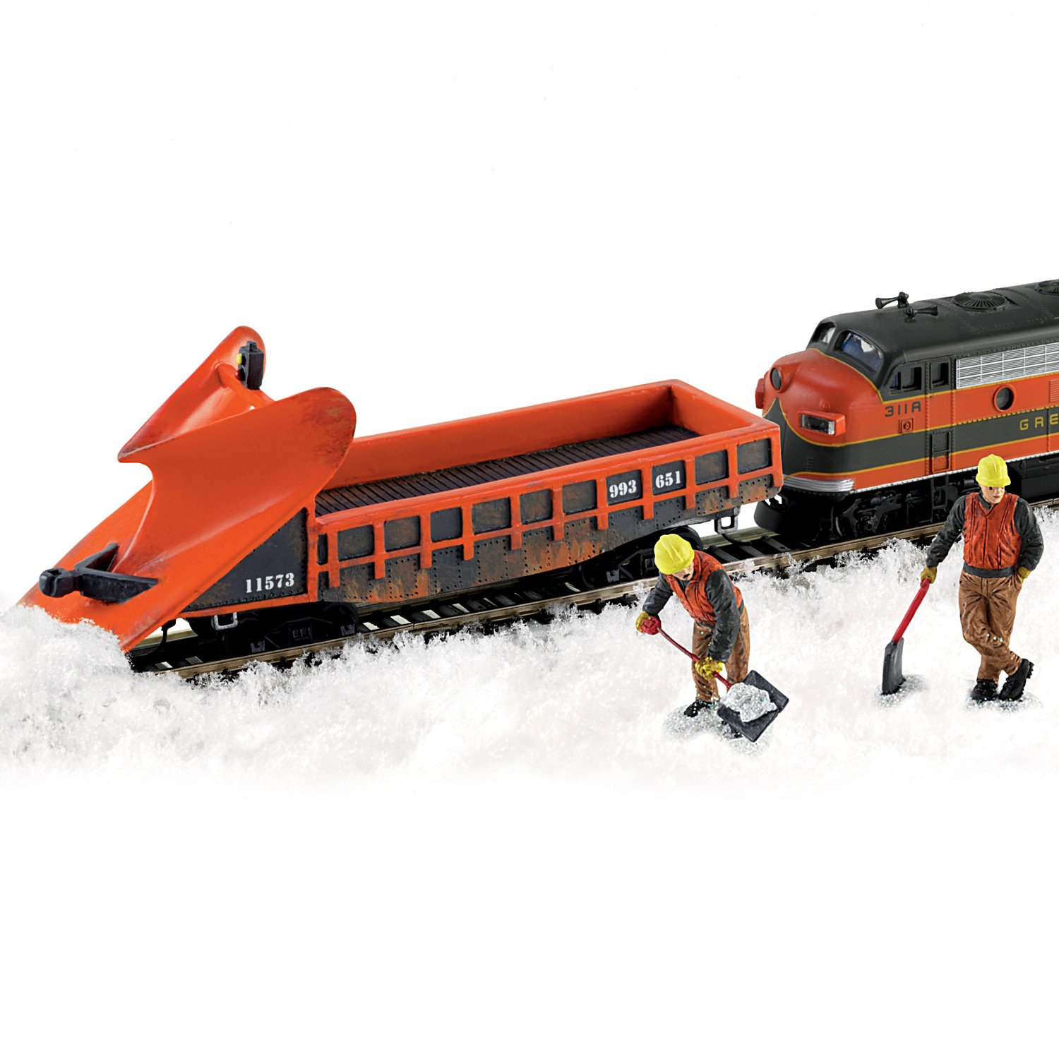 Amazon HO Scale Wedge Snow Plow Train Accessory Set With Two