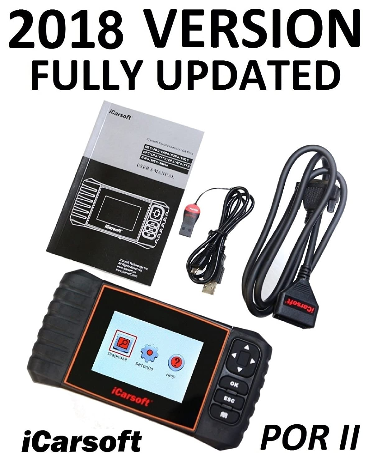 Amazon com: PORSCHE SCANNER TOOL AIRBAG SRS ABS CODE READER OIL