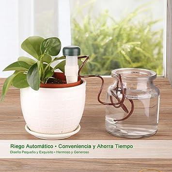 YISSVIC 8Pcs Sistema de Riego Automático Micro System de Goteo de Riego para Flor y Planta