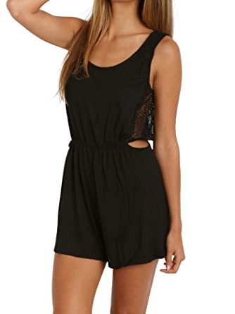 b782069ace Only Hearts Venice Cut Out Romper Black at Amazon Women s Clothing ...