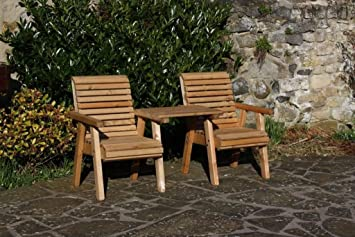 garden furniture patio set high back roll top love seat bench solid wood