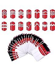 24x JUNGEN Niñas Pegatinas de uñas Guías de Clavar Tip Pegatinas Conjunto con Diferentes Formas para Uñas de Manicura