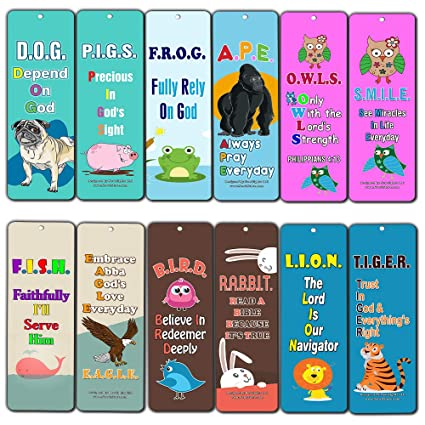 Amazoncom Religious Bookmarks For Kids Depend On God 12 Pack
